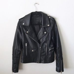 BLANK NYC Easy Rider Faux Leather Moto Jacket
